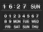 Scoreboard numbers.