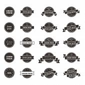 Hipster style badges set