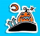 Pumpkin And Moon