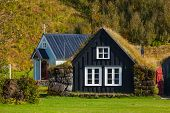 image of iceland farm  - Traditional icelandic houses in Skogar Folk Museum Iceland - JPG