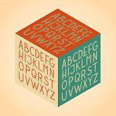 The vector Roman alphabet.