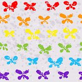 Background with abstract butterfly. Seamless pattern. Raster version.