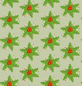 Xmas wallpaper with holly. Raster copy