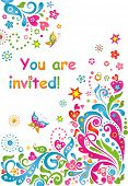 Funny invitation. Raster copy