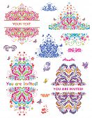 Colorful party headers. Set. Raster copy