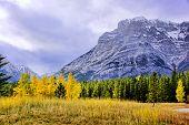Autumn mountain scene