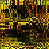 art abstract colorful geometric seamless pattern; background in gold, green, orange and brown colors