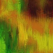 art abstract colorful acrylic background in green, olive and gold colors