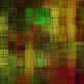 art abstract colorful geometric pattern; background in green, olive, beige and gold colors