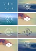 foto of bundle  - Trendy Retro Vintage Insignias Bundle 100 - JPG
