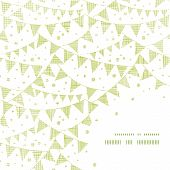 Green Textile Party Bunting Frame Corner Pattern Background