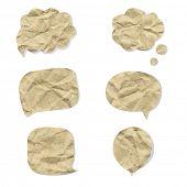 Cardboard Speech Bubbles, Vector Illustration