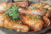 fried chicken legs with golden crust
