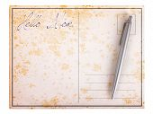 Old Paper Postcard - Hello Mom