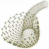 Nanotube, 3d illustration