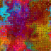 art abstract pixel geometric pattern background in pink, blue, gold, red and violet colors