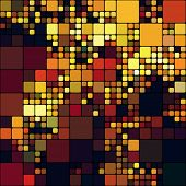 art abstract colorful geometric pattern; tiled background in gold, red, orange and brown colors