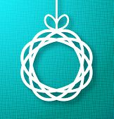 Circle Paperon Bright Turquoise Canvas Background.