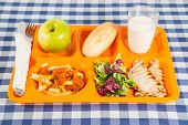 image of loin cloth  - Tray of food for school a meals - JPG