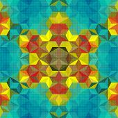Abstract Colorful Futuristic Pattern