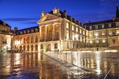 stock photo of duke  - Liberation Square and the Palace of Dukes of Burgundy in Dijon France - JPG