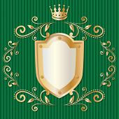 Luxury design elements, vintage royalty frame with crown
