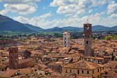 Panorama of Lucca from the Torre Guinigi