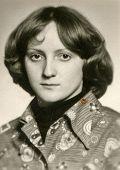 POLAND, CIRCA 1969 - Vintage photo of young girl