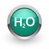 h2o green glossy web icon