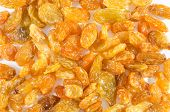 Dried Raisins Isolated On White Background