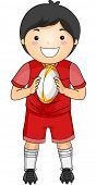 Illustration of a Boy Dressed in Rugby Gear