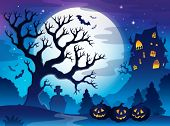 Spooky tree theme image 3 - eps10 vector illustration.