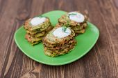 picture of zucchini  - Fried Green pancakes with zucchini and herbs