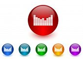 sound internet icons colorful set