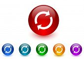 reload internet icons colorful set