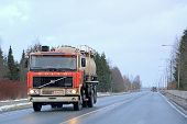 Early Volvo F12 On The Road