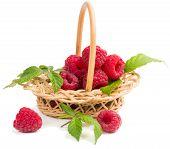 Raspberries In The Wicker Basket
