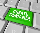Customer Demand words on a green computer keyboard key or button to illustrate building an online business and growing your customer base