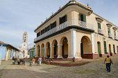 Brunet palace exterior in Trinidad, Cuba.