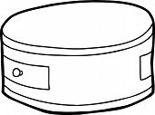 Outline Of Round Night Stand
