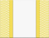 image of chevron  - Yellow and White Chevron Zigzag Frame with Ribbon Background with center for copy - JPG