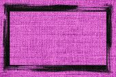 purple burlap textured background with black frame design