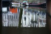 Mirrored barges