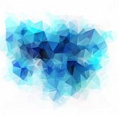 Blue Polygonal Mosaic Background, Vector Illustration,  Business Design Templates