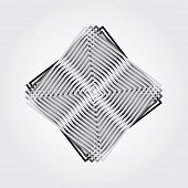 abstract artistic composition with square maze