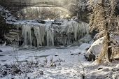 West Elyria Falls In Winter
