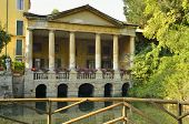 pic of vicenza  - Lodge of Valmarana in Salvi Gardens in Vicenza Northern Italy - JPG