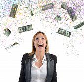 Businesswoman money