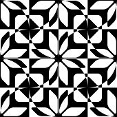 Seamless Star Pattern. Vector Black and White Background
