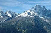 Peaks Nearby Chamonix In Alps In France